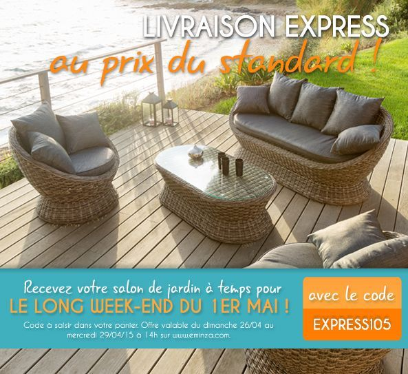 Livraison express au prix du standard WE 1er mai