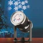 Projecteur Flocon Blanc froid 4 LED