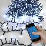 Guirlande lumineuse Bluetooth 16 m Blanc froid 800 LED