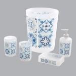 kit d 39 accessoires de salle de bain til s bleu accessoire. Black Bedroom Furniture Sets. Home Design Ideas