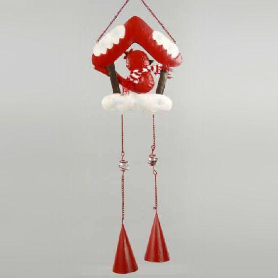 suspension de no l abri d 39 oiseau rouge decoration de sapin eminza. Black Bedroom Furniture Sets. Home Design Ideas