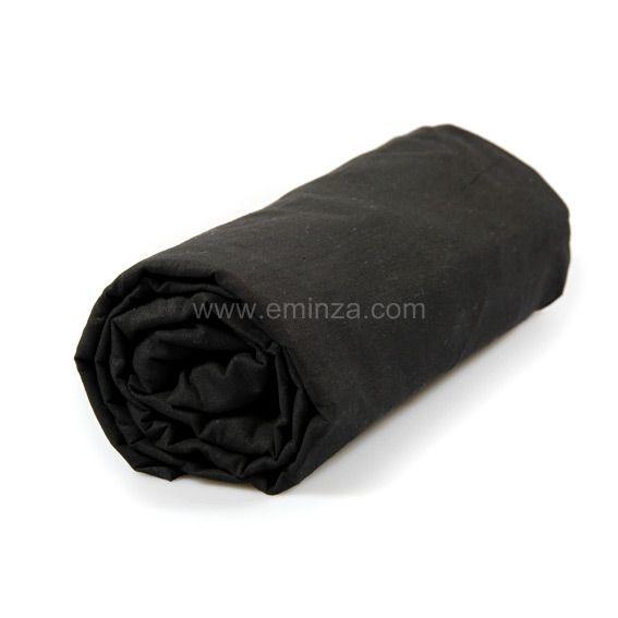 drap housse 140 cm uni charbon drap housse eminza. Black Bedroom Furniture Sets. Home Design Ideas
