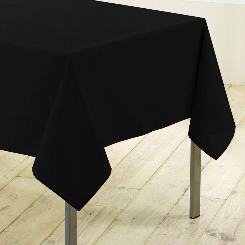 nappe rectangulaire l300 cm gamme essentiel noir nappe de table eminza. Black Bedroom Furniture Sets. Home Design Ideas