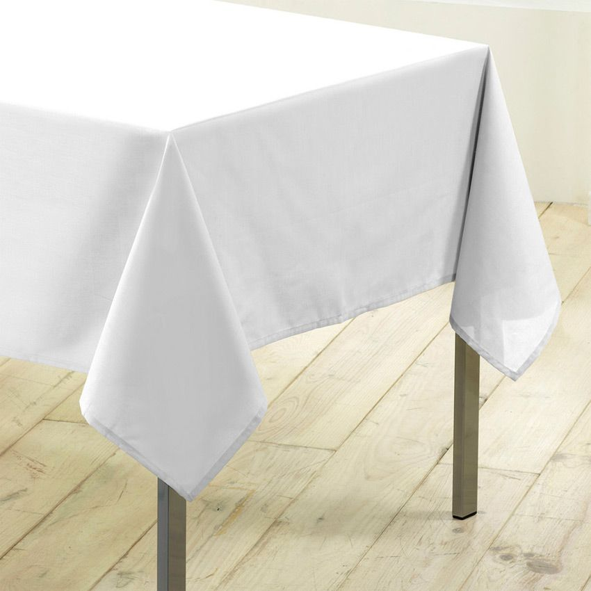 nappe rectangulaire l250 cm gamme essentiel blanc nappe de table eminza. Black Bedroom Furniture Sets. Home Design Ideas