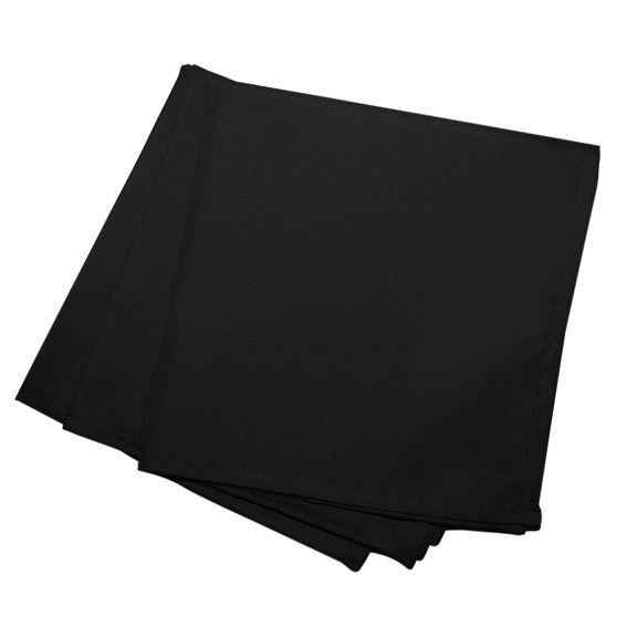 Lot de 3 serviettes gamme essentiel noir serviette de for Serviette de table noir