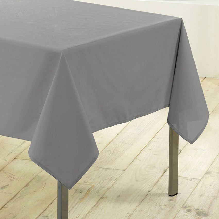 nappe rectangulaire l250 cm gamme essentiel gris nappe de table eminza. Black Bedroom Furniture Sets. Home Design Ideas