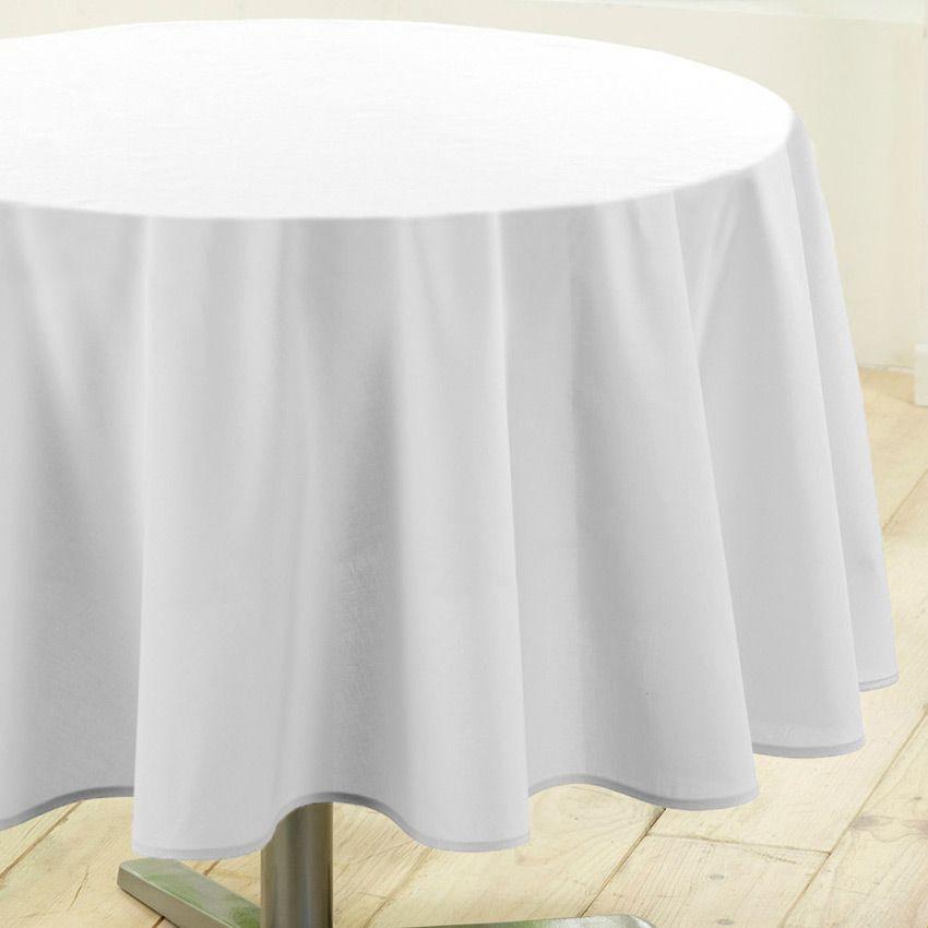 nappe ronde d180 cm gamme essentiel blanc nappe de. Black Bedroom Furniture Sets. Home Design Ideas