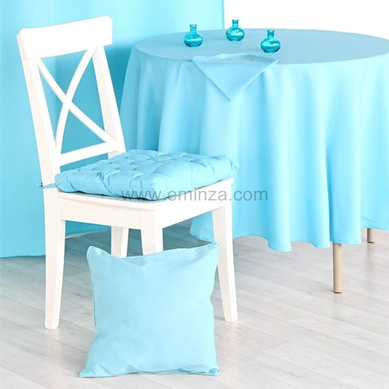 nappe ronde essentiel turquoise nappe de table eminza. Black Bedroom Furniture Sets. Home Design Ideas