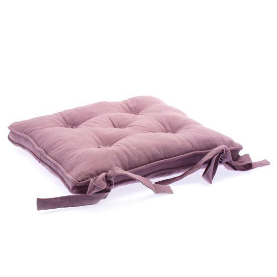 Coussin de chaise avec boutons parme galette et coussin for Coussin de chaise casa