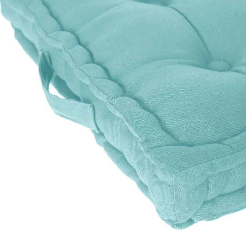 coussin de sol 40 cm bleu coussin de sol et pouf eminza. Black Bedroom Furniture Sets. Home Design Ideas