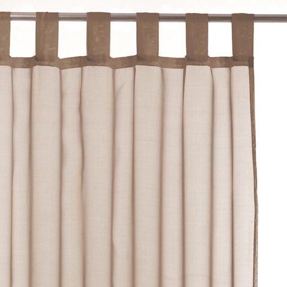 voilage taupe voilage eminza. Black Bedroom Furniture Sets. Home Design Ideas