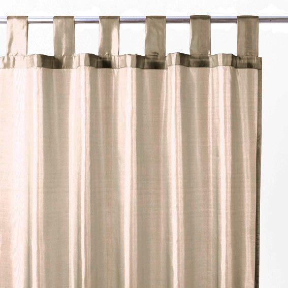 rideau 140 x h240 cm satin lin rideau tamisant eminza. Black Bedroom Furniture Sets. Home Design Ideas