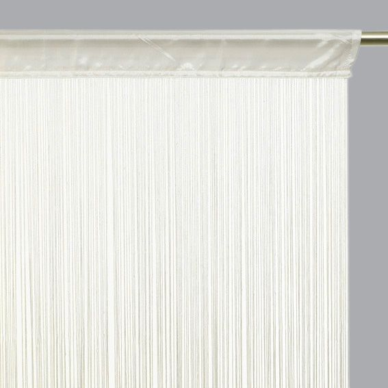 rideau de fil 90 x h200 cm uni ivoire rideau de porte. Black Bedroom Furniture Sets. Home Design Ideas