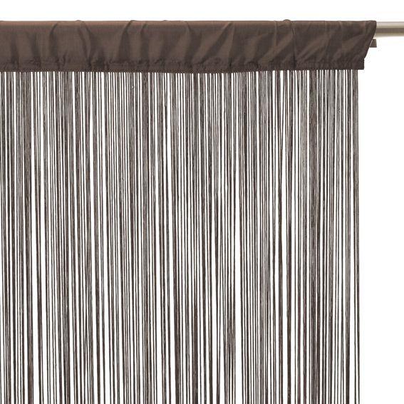 rideau de fil 90 x h200 cm uni taupe rideau et voilage eminza. Black Bedroom Furniture Sets. Home Design Ideas