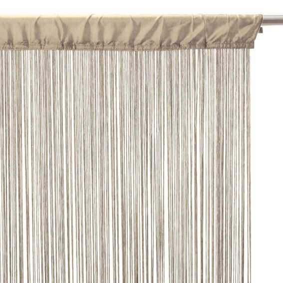 rideau de fil 90 x h200 cm uni lin rideau de porte. Black Bedroom Furniture Sets. Home Design Ideas