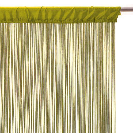 rideau de fil 120 x h240 cm uni anis rideau et voilage. Black Bedroom Furniture Sets. Home Design Ideas