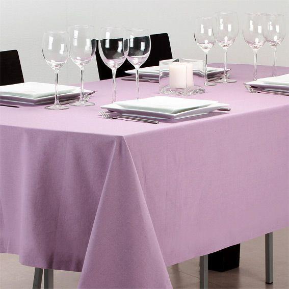 Nappe rectangulaire l240 cm uni parme nappe de table - Nappe de table rectangulaire ...