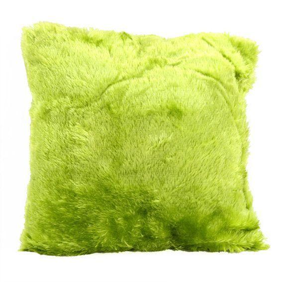 Coussin douceur peluche vert anis coussin et housse de coussin eminza - Canape vert anis ...