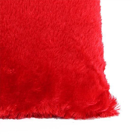 coussin douceur peluche rouge coussin eminza. Black Bedroom Furniture Sets. Home Design Ideas