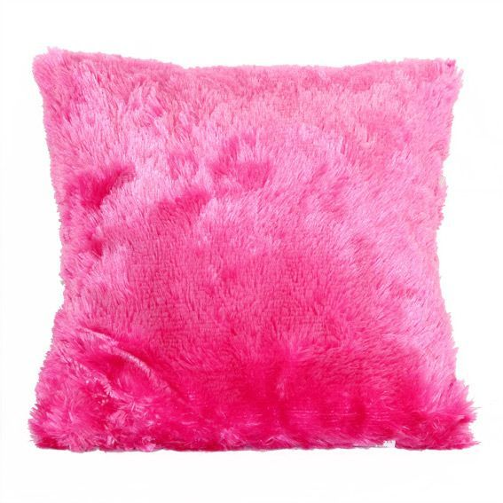 coussin douceur peluche rose fuchsia coussin eminza. Black Bedroom Furniture Sets. Home Design Ideas