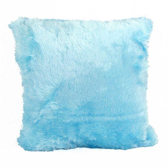 coussin douceur peluche bleu turquoise coussin et housse. Black Bedroom Furniture Sets. Home Design Ideas
