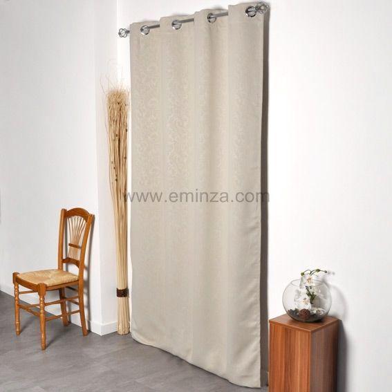 Rideau occultant 140 x h240 cm design ivoire rideau occultant eminza - Linge de maison design ...