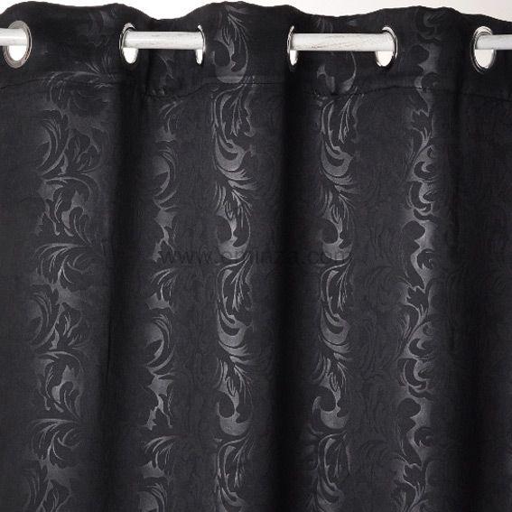 rideau occultant 140 x h240 cm design noir rideau occultant eminza