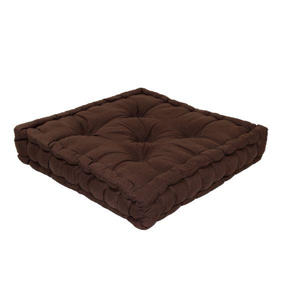 coussin de sol 50 cm etna chocolat coussin de sol et. Black Bedroom Furniture Sets. Home Design Ideas