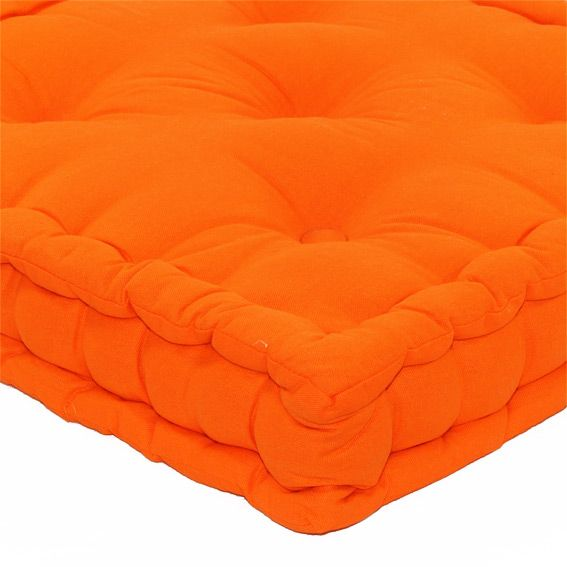 coussin de sol 50 cm etna orange coussin de sol et pouf eminza. Black Bedroom Furniture Sets. Home Design Ideas