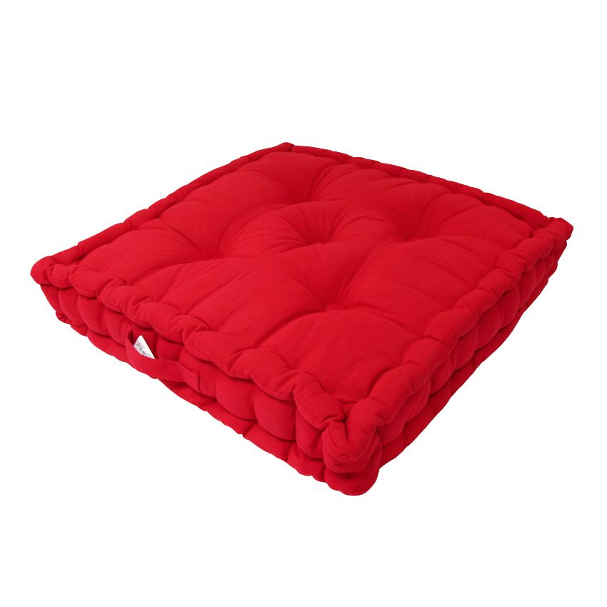 coussin de sol 50 cm etna rouge coussin de sol et pouf. Black Bedroom Furniture Sets. Home Design Ideas