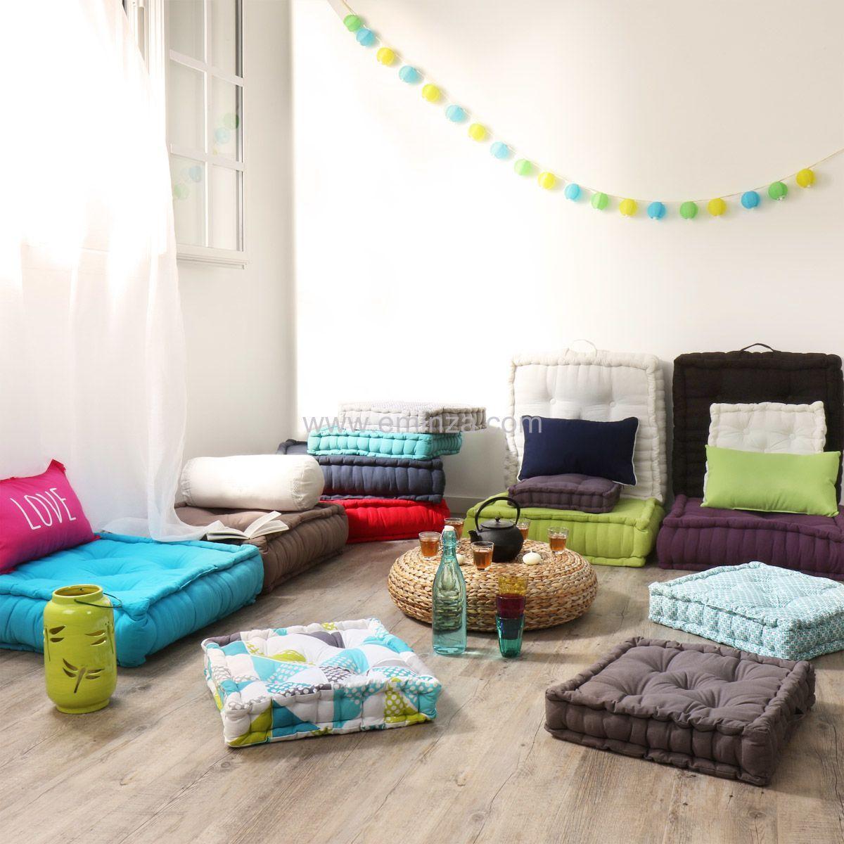 Chambre Turquoise Et Chocolat : … de Maison > Coussin et galette > Coussin de sol (50 cm) Bleu turquoise