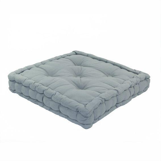 coussin de sol 50 cm etna gris bleu coussin de sol et. Black Bedroom Furniture Sets. Home Design Ideas