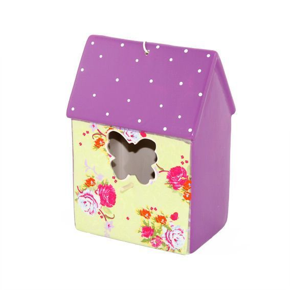 Nichoir papillon violet objet de d coration eminza for Objet deco violet