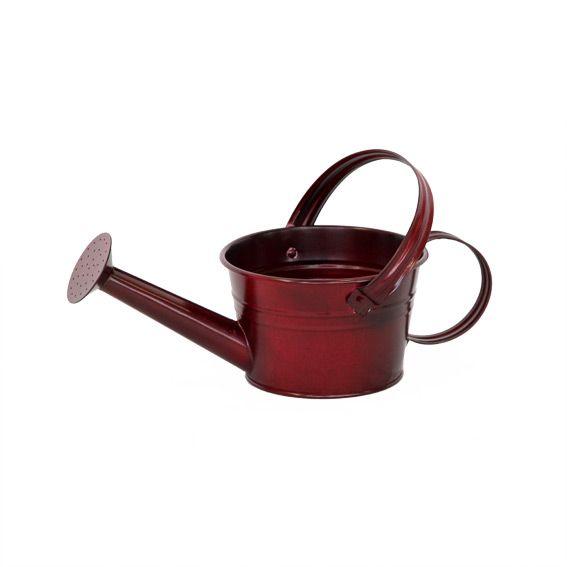 cache pot keos en acier galvanis rouge decoration. Black Bedroom Furniture Sets. Home Design Ideas