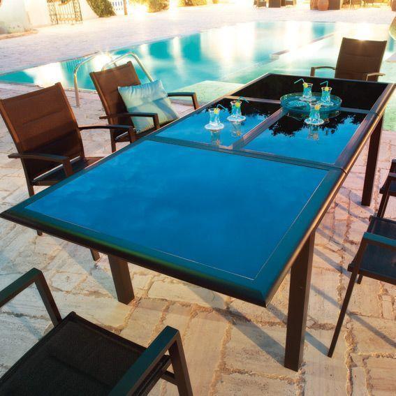 Fauteuil de jardin azua noir chaise et fauteuil de jardin eminza - Salon de jardin hesperide azua gris ...