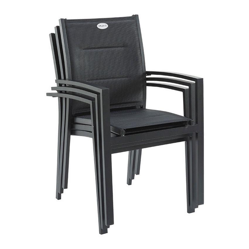 fauteuil de jardin azua noir chaise et fauteuil de. Black Bedroom Furniture Sets. Home Design Ideas