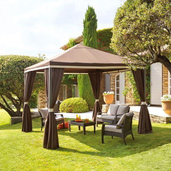 tonnelle avignon chocolat tonnelle eminza. Black Bedroom Furniture Sets. Home Design Ideas
