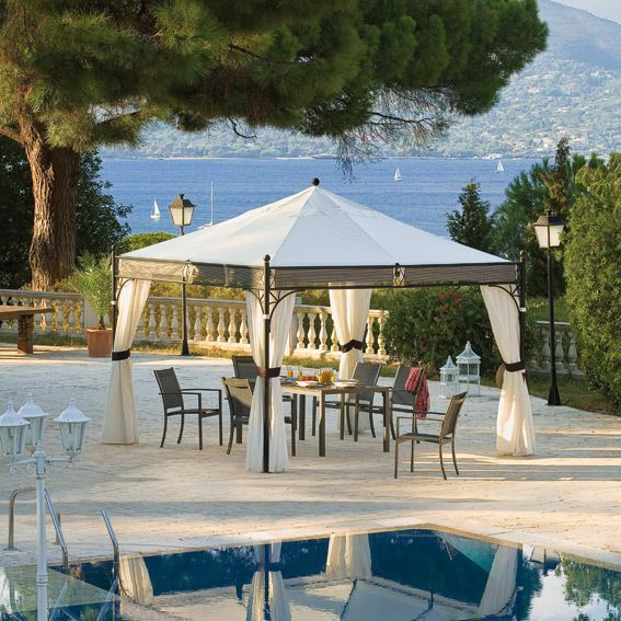 tonnelle jakarta 3 5 x 3 5 m blanc tonnelle et pergola eminza. Black Bedroom Furniture Sets. Home Design Ideas