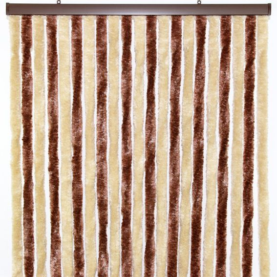 rideau de porte 90 x h210 cm chenille ecru rideau de porte eminza. Black Bedroom Furniture Sets. Home Design Ideas