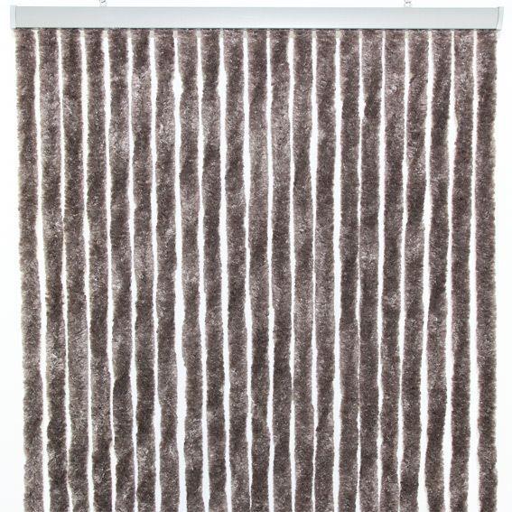 rideau de porte 90 x h210 cm chenille taupe rideau de porte eminza. Black Bedroom Furniture Sets. Home Design Ideas