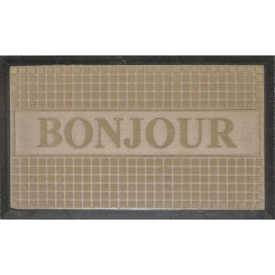 tapis d 39 entr e bonjour beige tapis d 39 entr e eminza. Black Bedroom Furniture Sets. Home Design Ideas