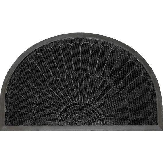 tapis d 39 entr e demi lune soleil noir tapis pour la maison eminza. Black Bedroom Furniture Sets. Home Design Ideas