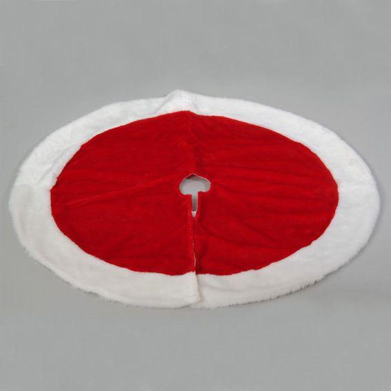 tapis de sapin rouge et blanc accessoires pour sapin. Black Bedroom Furniture Sets. Home Design Ideas