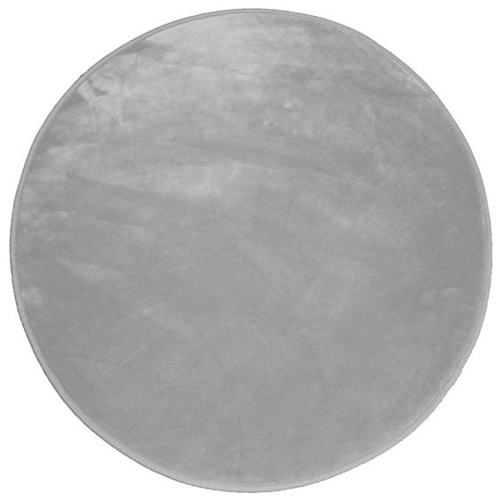 tapis rond velours uni gris tapis de chambre salon eminza. Black Bedroom Furniture Sets. Home Design Ideas
