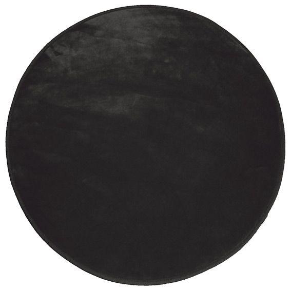 tapis rond velours uni noir tapis de chambre salon eminza. Black Bedroom Furniture Sets. Home Design Ideas