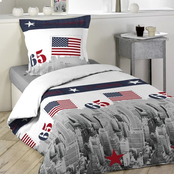 housse de couette et une taie 140 cm usa housse de couette eminza. Black Bedroom Furniture Sets. Home Design Ideas
