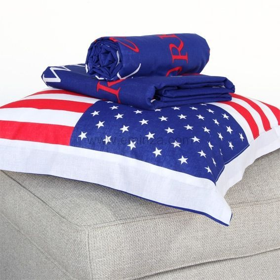 parure de draps 3 pi ces american flag parure de draps. Black Bedroom Furniture Sets. Home Design Ideas