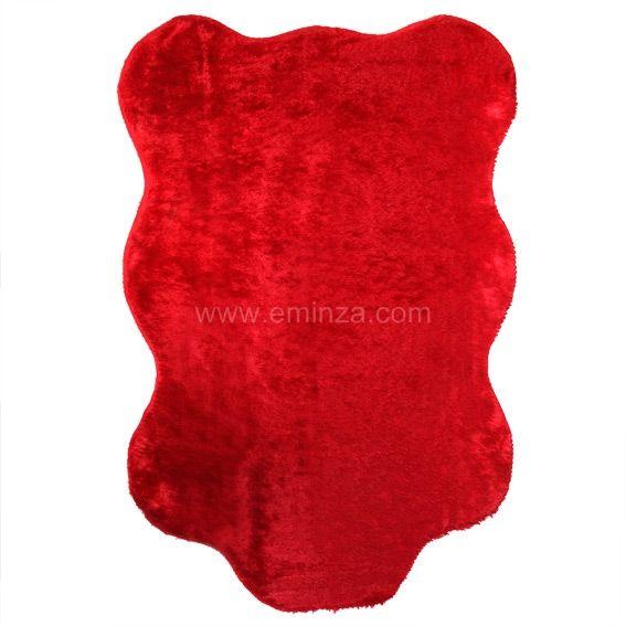 tapis peau de b te peluche rouge tapis pour la maison eminza. Black Bedroom Furniture Sets. Home Design Ideas