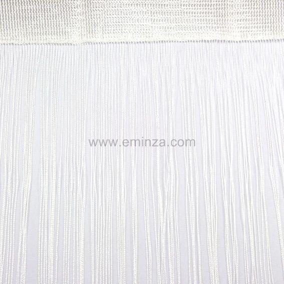 rideau fils blanc rideau de porte eminza. Black Bedroom Furniture Sets. Home Design Ideas