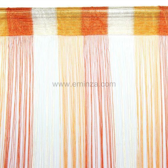 rideau de fil 90 x h200 cm circus orange rideau et. Black Bedroom Furniture Sets. Home Design Ideas